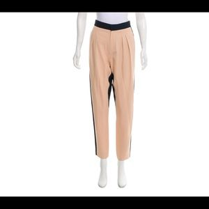 Chloé modern two-way color block trousers